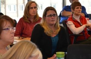 Jennifer Baker listens to class discussion