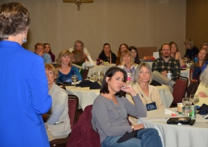 Integration liaison Cathy Epps (seated front center) at CEA Theory into Practice training.