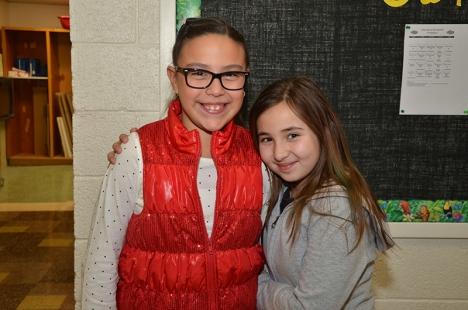 Kaelia and Sunny love their school