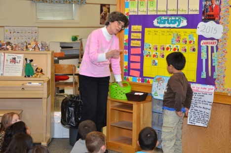 CharLou Simonson has taught kindergarten at Belmont for 29 years