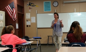Kirstin Oseth teaches math at Cheyenne Mountain Junior High in Colorado Springs